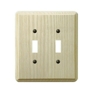 AmerTac 401TT Amerelle Contemporary Toggle Switch Wall Plate 2 Gang Unfinished Ash