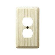 AmerTac 401D Amerelle Contemporary Duplex Receptacle Wall Plate 1 Gang Unfinished Ash