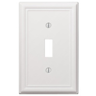 AmerTac 149TW Amerelle Chelsea Toggle Wall Plate 1 Gang White