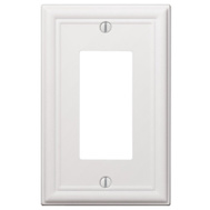 AmerTac 149RW Amerelle Chelsea Rocker-GFCI Wall Plate 1 Gang White