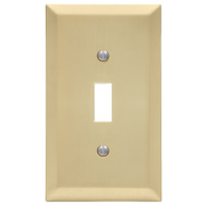 AmerTac 163TSB Amerelle Century Toggle Switch Wall Plate 1 Gang Satin Brass
