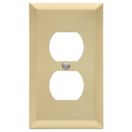 AmerTac 163DSB Amerelle Century Duplex Receptacle Wall Plate 1 Gang Satin Brass