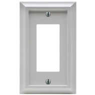 AmerTac 2040RW Amerelle Deerfield Rocker-GFCI Wall Plate 1 Gang White Wood