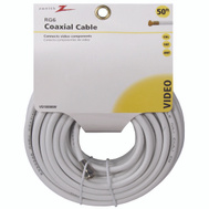 AmerTac VG105006W Zenith Cable Coax RG6 F Connectors 50 Foot White