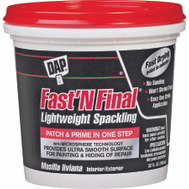 Dap 12142 Fast n Final Spackling Compound Quart