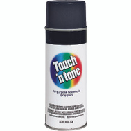 Rust-Oleum 55275830 Touch n Tone Black Flat All Purpose Spray Paint 10 Ounce