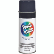 Rust-Oleum 55289830 Touch n Tone Black Semi Gloss All Purpose Spray Paint 10 Ounce