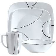 Corelle Brands 1069983 Corelle 16 Piece Square Dinnerware Set