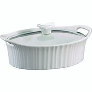 World Kitchen 1105929 Baking Dish Wht Oval 1-1/2Qt