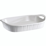 World Kitchen 1105936 Baking Dish French White 3Qt