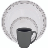 World Kitchen 1119398 Dinnerware 16Pc Mystic Gray