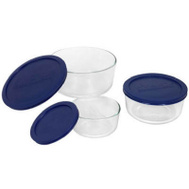 Corelle Brands 6010170 Pyrex 6 Piece Glass Storage Set