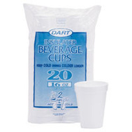 R3 240HW 16 Ounce 20 Ct Foam Cups