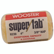 Wooster R239-4 Super Fab 4 Inch 3/8 Inch Nap Roller Cover For Flat & Low Lustre Paints