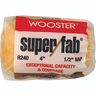 Wooster R240-4 Super Fab 4 Inch 1/2 Inch Nap Roller Cover For Semi Rough Surfaces