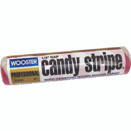 Wooster R209-9 Candy Stripe 9 Inch 1/4 Inch Pile Professional Mohair Roller Cover