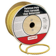 Lehigh Group PY230 Twisted Poly Rope 1/2 X 300 Yellow