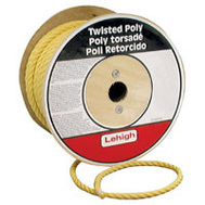 Lehigh Group PY345 Twisted Poly Rope 3/4 X 150 Yellow