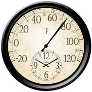 Taylor 91575T 14 Inch Thermometer/Clock