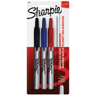 Sanford 32726 Sharpie Assorted Fine Point Retractable (Pack Of 3)