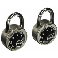 Master Lock 1850T Fortress 1-7/8 Inch Stainless Steel Combination Lock Pack Of 2