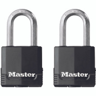 Master Lock M115XTLF Magnum 1-9/16 Inch Padlock 1-1/2 Inch Shackle 2 Pack