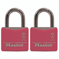 Master Lock 136T 1-3/16 Covered Aluminum Bca 2 Pack