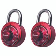 Master Lock 1530T 2 Pack Colored Dial Combination Padlocks