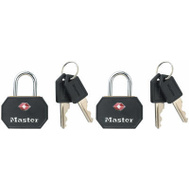 Master Lock 4681TBLK 1-1/4 Inch Luggage And Backpack Lock Black Pack Of 2 Ka