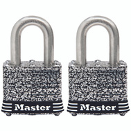 Master Lock 3SSTHC Padlock Coated Lam1-9/16In 2Pk