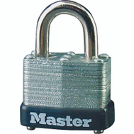 Master Lock 22T Steel Padlock Pack Of 2 1-1/2 Inch Wide Self Locking