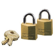 Master Lock 120T 3/4 Brass Pin Tumbler Padlocks Pack Of 2