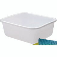 Rubbermaid Home 2951-AR WHT White Rectangle Dishpan