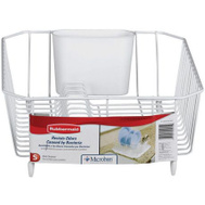 Rubbermaid Home 6008-AR-WHT Twin Sink Dish Drainer