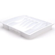 Rubbermaid Home 2974-RD WHT White Adjustable Cutlery Tray