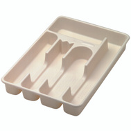 Rubbermaid Home 2919-RD BISQUE Bisque Cutlery Tray