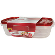 Rubbermaid Home 2086752 Take Alongs Rectangular 1 Gallon Food Containers 2 Piece Set