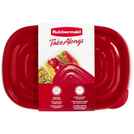 Rubbermaid Home 7F57-RE-TCHIL Take Alongs Divided Rectangle (Pack Of 3)