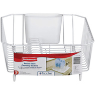 Rubbermaid Home 6008-AR-WHT White Twin Dish Drainer