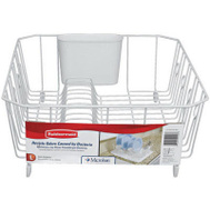 Rubbermaid Home 6032-AR-WHT Large White Wiredish Drainer