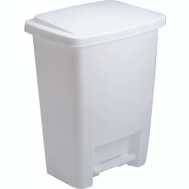 Rubbermaid Home 2841-87 WHT Wastebasket 33 Qt Step On Lid