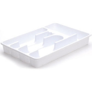 Rubbermaid Home 2919-RD WHT White Cutlery Tray