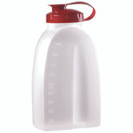 Rubbermaid Home 309108RDCHILI Servin Saver Plus Drink Bottle Red Top Clr Quart