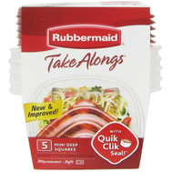 Rubbermaid Home 7H93-AO-TCHIL 5 Piece Mini Deep Square Container