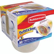 Rubbermaid Home 7J00-00-TCHIL Take Alongs Container Stor Twist 3Pc 2Cup 3 Pack