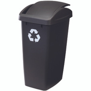 Rubbermaid Home FG2692RECSHM 50 Quart Swing Top Recycling Wastebasket