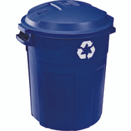 Rubbermaid Home 1792641 Roughneck 32 Gallon Recyclable Refuse Container With Lid