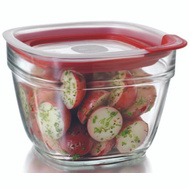 Rubbermaid Home 2856005 5.5C SQ Glass Container