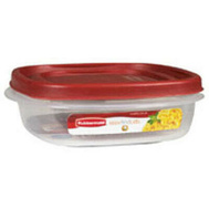 Rubbermaid Home 7J65-00-CHILI Easy Find Lids 1.6 Pint Square Servin Saver Chili Red Top