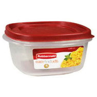 Rubbermaid Home 7J66-00-CHILI Food Storage Container Square 5 Cup Red
